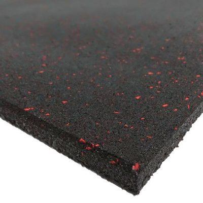 Red Fleck Rubber Gym Flooring